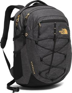 The North Face Women's Borealis Backpack - TNF Black Heather & Burnt Coral Metallic - OS (Past Season) Backpack Online, Laptop Backpack, Black Backpack, Backpack Bags, Mesh Backpack, Rucksack Bag, North Face Backpack Borealis, North Face Borealis, The North Face