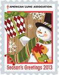 Free Christmas seals from the American Lung Association.