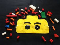 Lego mask set of 6 by NanandGeFavors on Etsy Friend Crafts, Felt Mask, Mask Template, Felt Toys, Activities For Kids, Templates, Costumes, Party, Birthday Ideas