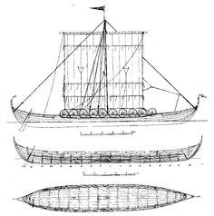 Gokstad viking longship Free Downloadable Ship Plans | The Model ...