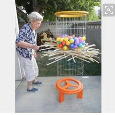 Life sized Kerplunk might be fun!! #OT #OCCUPATIONALTHERAPY #geriatricOT Backyard For Kids, Backyard Games, Outdoor Games, Backyard House, Party Outdoor, House Yard, Wedding Backyard, Lawn Games, Outdoor Ideas
