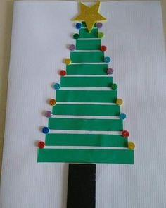 Cartão de Natal para fazer com as crianças #natal #cartão #crianças #atividade #artesanato Natal Diy, Origami, Triangle, Christmas Cards For Kids, Christmas Activities For Kids, Christian Christmas Cards, Art For Toddlers, Merry Little Christmas, Christmas Cards To Make