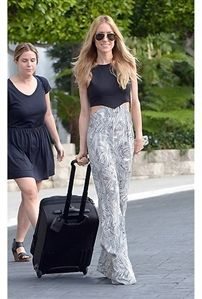 Donna Mizani Theodore Cut Out Maxi Dress in Black and White as Seen On Kristin Cavallari