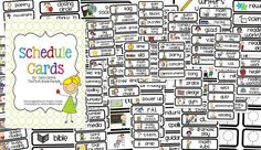 Here's a fabulous set of picture cards for posting your class schedule.
