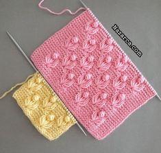 Beginner Knitting Patterns, Lace Knitting Patterns, Knitting Stiches, Easy Crochet Patterns, Knitting Designs, Baby Knitting, Flower Model, Crochet Slipper Pattern, Creative Knitting