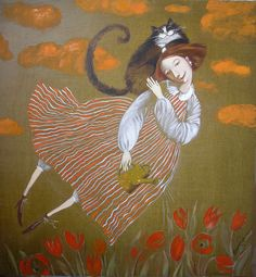 """Olesya Serzhantova (Serjantova ) Сержантова Олеся Садовница """"Пойдем, прополем розы,"""" - сказала я коту. Ответил он:"""" Попозже, я тут мышонка жду"""". """"Пойдем, вскопаем грядку,"""" - прошу кота опять, А он мне:""""Распорядок советует поспать!"""" """"Пойдем, польем тюльпаны """" - я в сад кота зову. А он: """"Я кот диванный и в травах не живу"""". """"Как? Ты не хочешь рыбки?"""" - Кот фыркнул: """"Вот еще!"""" И с хитрою улыбкой мне прыгнул на плечо. Елена Хоролец"""