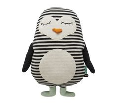 Penguin Pingo Cushion design by OYOY – Handstickerei Baby Toys, Kids Toys, Children's Toys, Sock Toys, Toddler Toys, Fabric Toys, Paper Toys, Knitted Animals, Sewing Toys