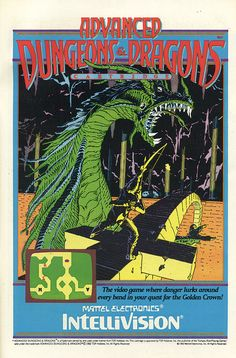 Advanced Dungeons and Dragons video game for the Intellivision (1983) by Paxton Holley, via Flickr