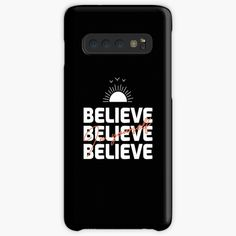 'Believe In Yourself Inspirational Typography Design' Case/Skin for Samsung Galaxy by Typography Inspiration, Typography Design, Samsung Cases, Samsung Galaxy, Galaxy Design, Design Case, Believe In You, Protective Cases, Inspirational