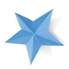 Site has a cute Uncle Sam pin, party favors, & how to cut this cute star. Crafts for kids on the 4th.