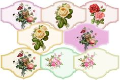 I just released Flower Labels on Creative Market.