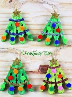 Clothespin Christmas Tree Craft Kids Craft #xmastreedecorations