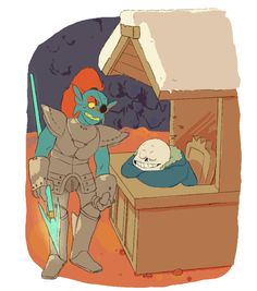 HEY SANS, SEEN ANY HUMANS AROUND? OH I'M SORRY, DONT LET ME KEEP YOU FROM DOING YOUR JOB, WHICH I AM PAYING YOU TO DO