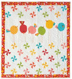 "This quilt pattern looks really gorgeous. This is a simple, modern and elegant ""Hip to be Square"" quilt pattern that you can get for free. Quilt Baby, Baby Quilt Patterns, Baby Girl Quilts, Girls Quilts, Owl Patterns, Canvas Patterns, Cute Quilts, Small Quilts, Mini Quilts"