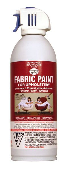 Spray It New | Burgundy Upholstery Fabric Paint. I need to keep this in mind for our faded couch
