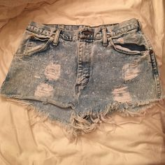 High waisted Jean cutoff shorts Distressed bleached cut off jean shorts Free People Shorts
