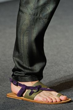 If you're going to wear sandals with your jeans/chinos/whatnot (which you probably shouldn't do under most regular circumstances anyhow), then at least make the effort to make them like these (from Etro).