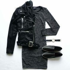 Love this edgy outfit (pointy sneakers aside)