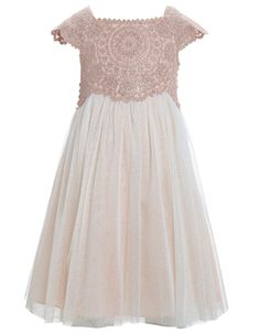 Estella Glitter Dress | Pink | Monsoon
