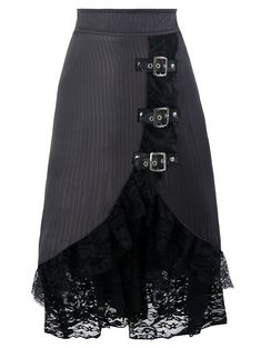 Lace Tier Ruffles Midi Skirt $20.36