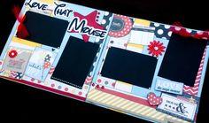 Girl Scrapbook Page Kit, boy Scrapbook Page kit, 12x12 Premade scrapbook page…