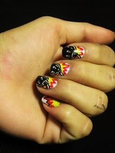 Exploding Bombs Nails #nailart