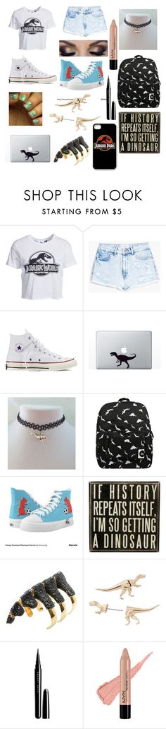 """Jurassic park"" by jaricake17 ❤ liked on Polyvore featuring New Look, MANGO, Converse, Forever 21, Dot & Bo, Noir, Decree and Marc Jacobs"