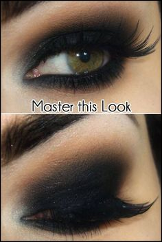Master this smoldering smokey eye look like a boss!!