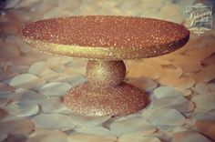 Im doing it :) my wedding is gunna shit glitter! Glitter Cake Stand {Tutorial} - Deliciously Darling | Live Life Deliciously
