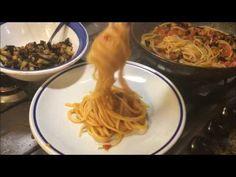 Linguine alla marinara con melanzane fritte - YouTube