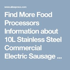 Find More Food Processors Information about 10L Stainless Steel Commercial Electric Sausage Stuffer Filling Machine  ,High Quality machine machine,China machine filling Suppliers, Cheap machine sausages from Guangzhou Sanyue Food Machinery Co.,Ltd on Aliexpress.com
