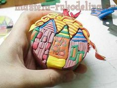 How to make a Hundertwasser Houses Cane or your own village. #Polymer #Clay #Tutorials