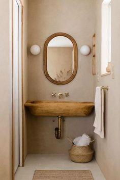 Earthy Bathroom, Neutral Bathroom, Simple Bathroom, Bathroom Small, Industrial Bathroom, Colorful Bathroom, Bathroom Black, Bathroom Modern, Nature Bathroom