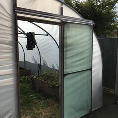 Final touches to polytunnel including the door. Boom. #finished #gardening #growyourown Grow Your Own, Finals, Touch, How To Make, Final Exams