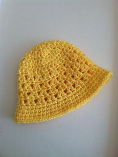 Yellow Sun Hat Crochet Baby Hat Newborn Hat by LakeviewCottageKids, $18.00