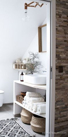 Trendy Bathroom Storage Ideas For Makeup Interior Design Ideas Bad Inspiration, Bathroom Inspiration, Interior Inspiration, Bathroom Storage, Bathroom Interior, Small Bathroom, Neutral Bathroom, Bathroom Ideas, Bathroom Spa