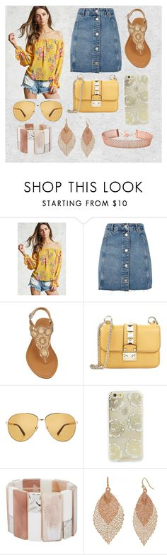 """outfit verano"" by aletraghetti on Polyvore featuring moda, Love 21, Topshop, Valentino, Gucci, Sonix, John Lewis y Bold Elements"
