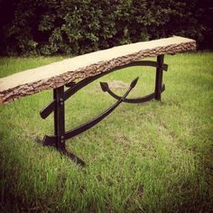 Great Iron and Wood bench