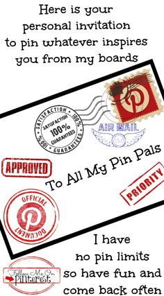 Here is your personal invitation to pin whatever inspires you from my Pinterest boards... I have no limits so have fun and come back often <3 Tam <3