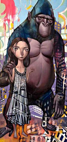 Surreal Melancholy Paintings  John Park Renders