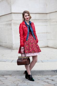 Layered Skirts and Jackets (Paris Fashion Week)