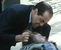 "Sonny beating up a Hells Angel in ""The Bronx Tale."""