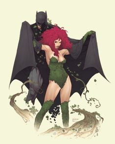 Batman and Ivy by Robson Rocha. - Batman Canvas Art - Trending Batman Canvas Art - Batman and Ivy by Robson Rocha. Batman Painting, Batman Artwork, Batman Comic Art, Chiaroscuro, Catwoman, Batgirl, Im Batman, Spiderman, Batman Arkham