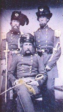 23rd Virginia Infantry, CSA, Command Staff  Maj. Gen. William Booth Taliaferro (seated)  Col. George W. Curtis (goatee, brother of W. B. Curtis)  Col. Alexander G Taliaferro (full beard, nephew to the general)
