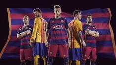 Barcelona 2015/16 Home & Away Kits