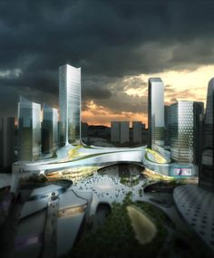 The Masterplan for the Honghe Project in Shenzhen, China is mind blowing to look at because of its size and complexity, but I always worry when someone tries to force a commercial center into existence when they could form organically.
