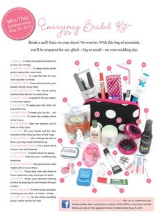 Top 10 DIY Wedding Day Emergency Kits - Top Inspired