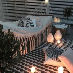 Pin by zoe donofrio on bedroom ideas hamaklar, oda dekorasyon fikirleri, bo Decoration Inspiration, Decor Ideas, Rug Ideas, Diy Decoration, Interior Inspiration, Decorating Ideas, Style Inspiration, Outdoor Living, Outdoor Decor