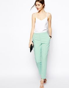 Image 1 of ASOS Cigarette Trousers in Crepe