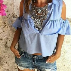 New Arrivals - Boho Jewellery UK, Statement Jewellery Santorini, All About Fashion, Womens Scarves, Marni, Short Sleeve Dresses, Ruffle Blouse, Glamour, Fashion Outfits, Clothes
